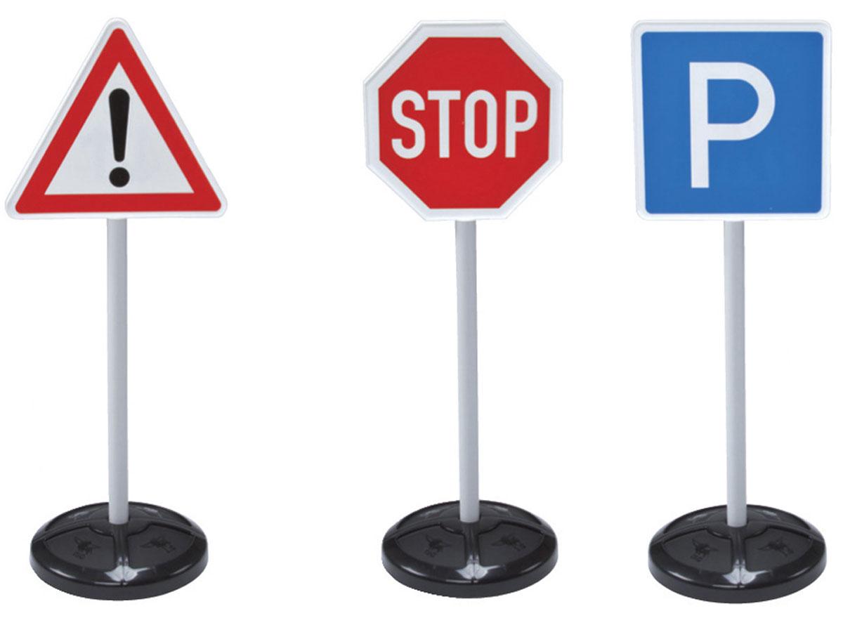 Big Игрушечные дорожные знаки Traffic Signs 3 шт1199В комплекте Игрушечные дорожные знаки из серии Traffic Signs от бренда BIG: три сборных подставки для знаков, 5 наклеек знаков дорожного движения. Функциональные особенности набора - каждая стойка собирается из трех частей: подставки, трубки и основы в виде круга, треугольника или восьмиугольника. Знаки из набора (стоп, обгон запрещен, внимание, остановка запрещена, двустороннее движение) выполнены из клеящейся бумаги, поэтому легко крепятся на основе. На одну из стоек крепится одна наклейка, а на две другие по две. Набор послужит отличным пособием для ребенка. Родители смогут наглядно объяснить малышу, как вести себя на дороге. Особенно игрушечные знаки пригодятся малышам, у которых есть машинки-каталки, ведь тогда можно построить свою игрушечную дорогу и потренироваться в правилах дорожного движения.