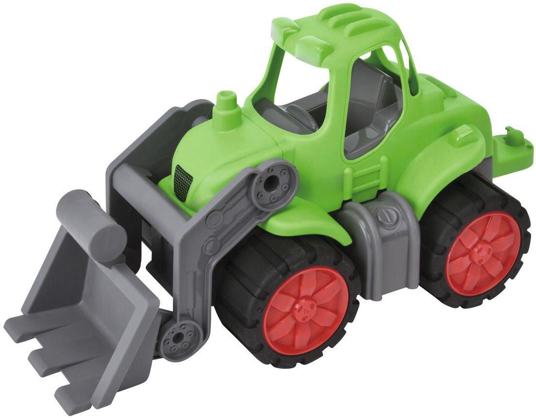 Big Трактор Power Worker56832Эта замечательная машина станет отличным подарком для любого мальчика. Трактор имеет большие вращающиеся колёса, ковш, который поднимается и опускается, просторную кабину. Игрушка выполнена из прочного пластика.