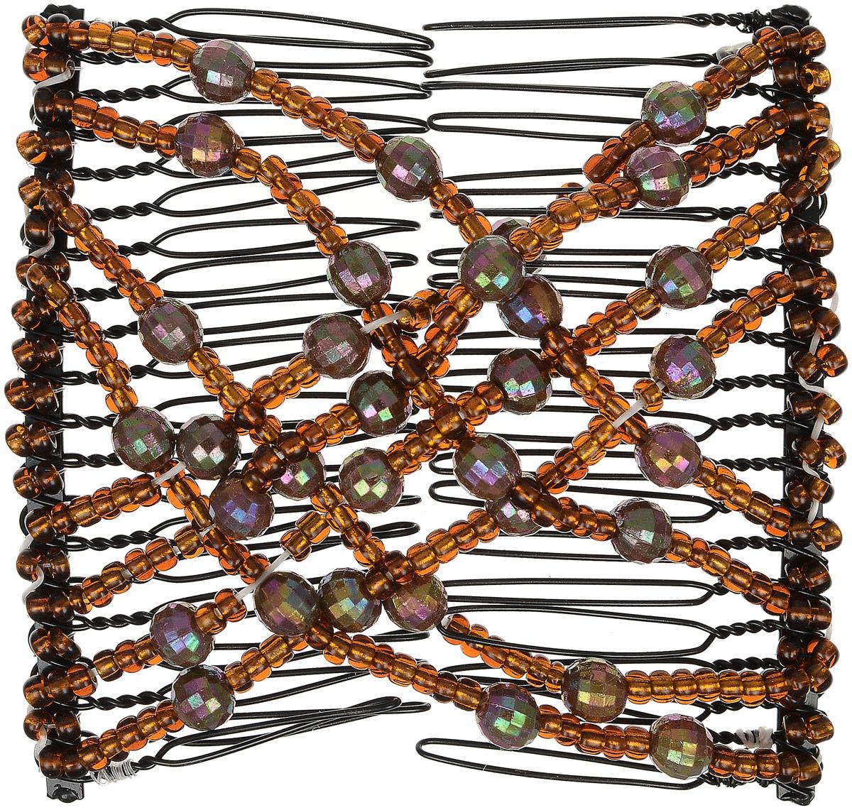 EZ-Combs Заколка Изи-Комбс, одинарная, цвет: коричневый. ЗИО_перламутр ЗИО_коричневый, перламутр