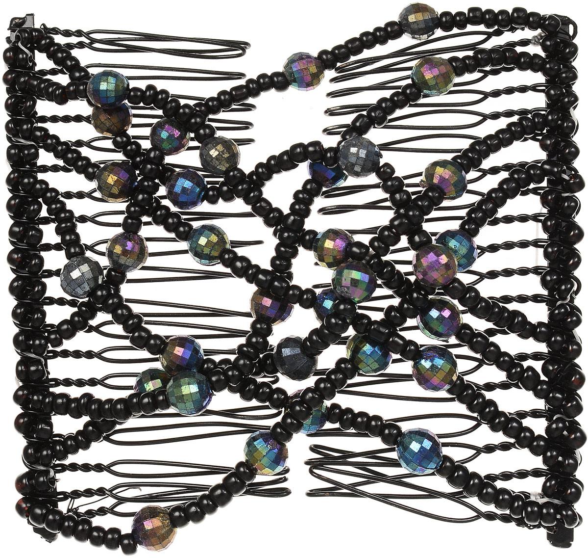 EZ-Combs Заколка Изи-Комбс, одинарная, цвет: черный. ЗИО_перламутрЗИО_черный, перламутрУдобная и практичная EZ-Combs подходит для любого типа волос: тонких, жестких, вьющихся или прямых, и не наносит им никакого вреда. Заколка не мешает движениям головы и не создает дискомфорта, когда вы отдыхаете или управляете автомобилем. Каждый гребень имеет по 20 зубьев для надежной фиксации заколки на волосах! И даже во время бега и интенсивных тренировок в спортзале EZ-Combs не падает; она прочно фиксирует прическу, сохраняя укладку в первозданном виде. Небольшая и легкая заколка для волос EZ-Combs поместится в любой дамской сумочке, позволяя быстро и без особых усилий создавать неповторимые прически там, где вам это удобно. Гребень прекрасно сочетается с любой одеждой: будь это классический или спортивный стиль, завершая гармоничный облик современной леди. И неважно, какой образ жизни вы ведете, если у вас есть EZ-Combs, вы всегда будете выглядеть потрясающе.