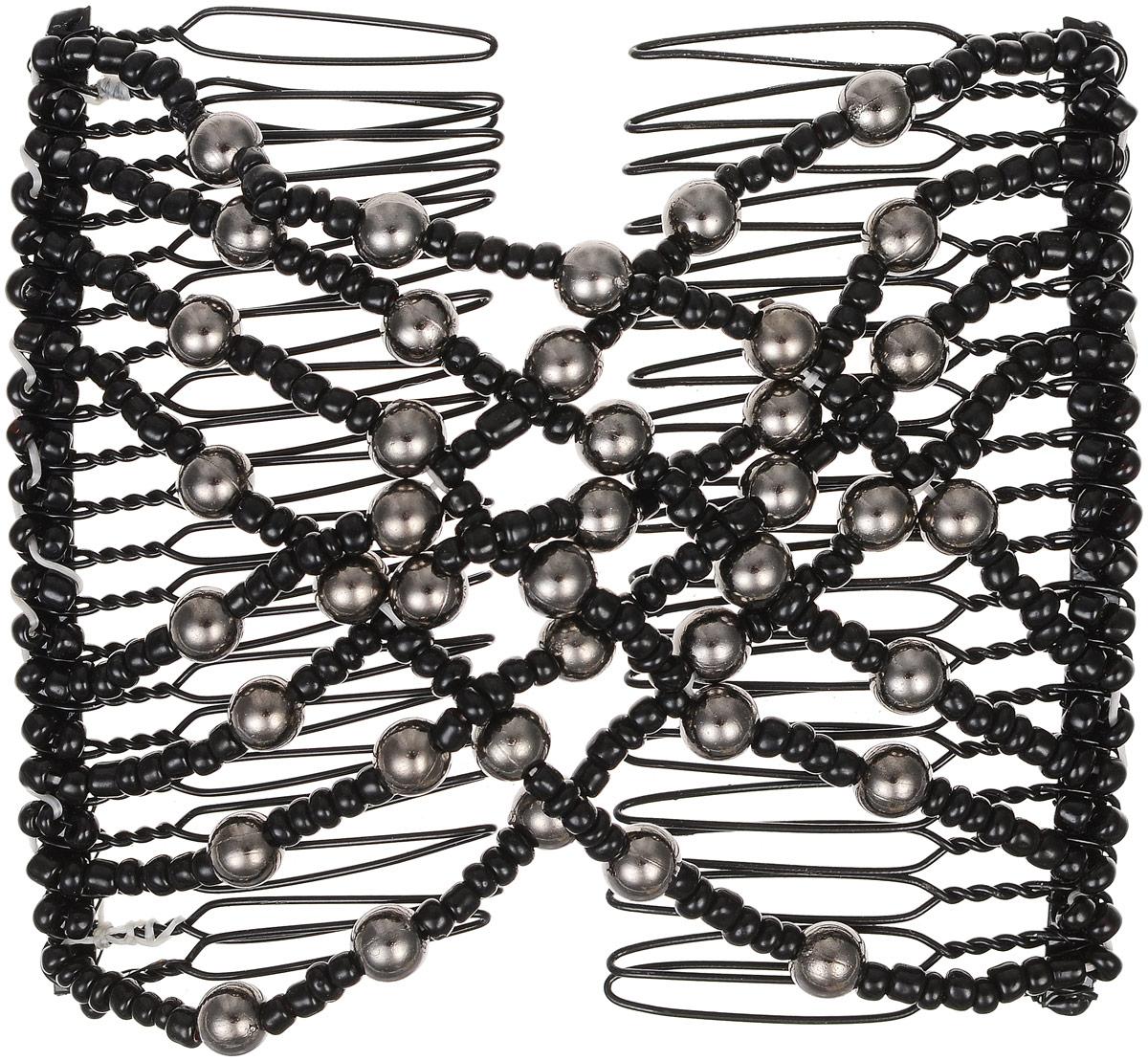 EZ-Combs Заколка Изи-Комбс, одинарная, цвет: черный, серебристый. ЗИОЗИО_черный, серебристый жемчугУдобная и практичная EZ-Combs подходит для любого типа волос: тонких, жестких, вьющихся или прямых, и не наносит им никакого вреда. Заколка не мешает движениям головы и не создает дискомфорта, когда вы отдыхаете или управляете автомобилем. Каждый гребень имеет по 20 зубьев для надежной фиксации заколки на волосах! И даже во время бега и интенсивных тренировок в спортзале EZ-Combs не падает; она прочно фиксирует прическу, сохраняя укладку в первозданном виде. Небольшая и легкая заколка для волос EZ-Combs поместится в любой дамской сумочке, позволяя быстро и без особых усилий создавать неповторимые прически там, где вам это удобно. Гребень прекрасно сочетается с любой одеждой: будь это классический или спортивный стиль, завершая гармоничный облик современной леди. И неважно, какой образ жизни вы ведете, если у вас есть EZ-Combs, вы всегда будете выглядеть потрясающе.