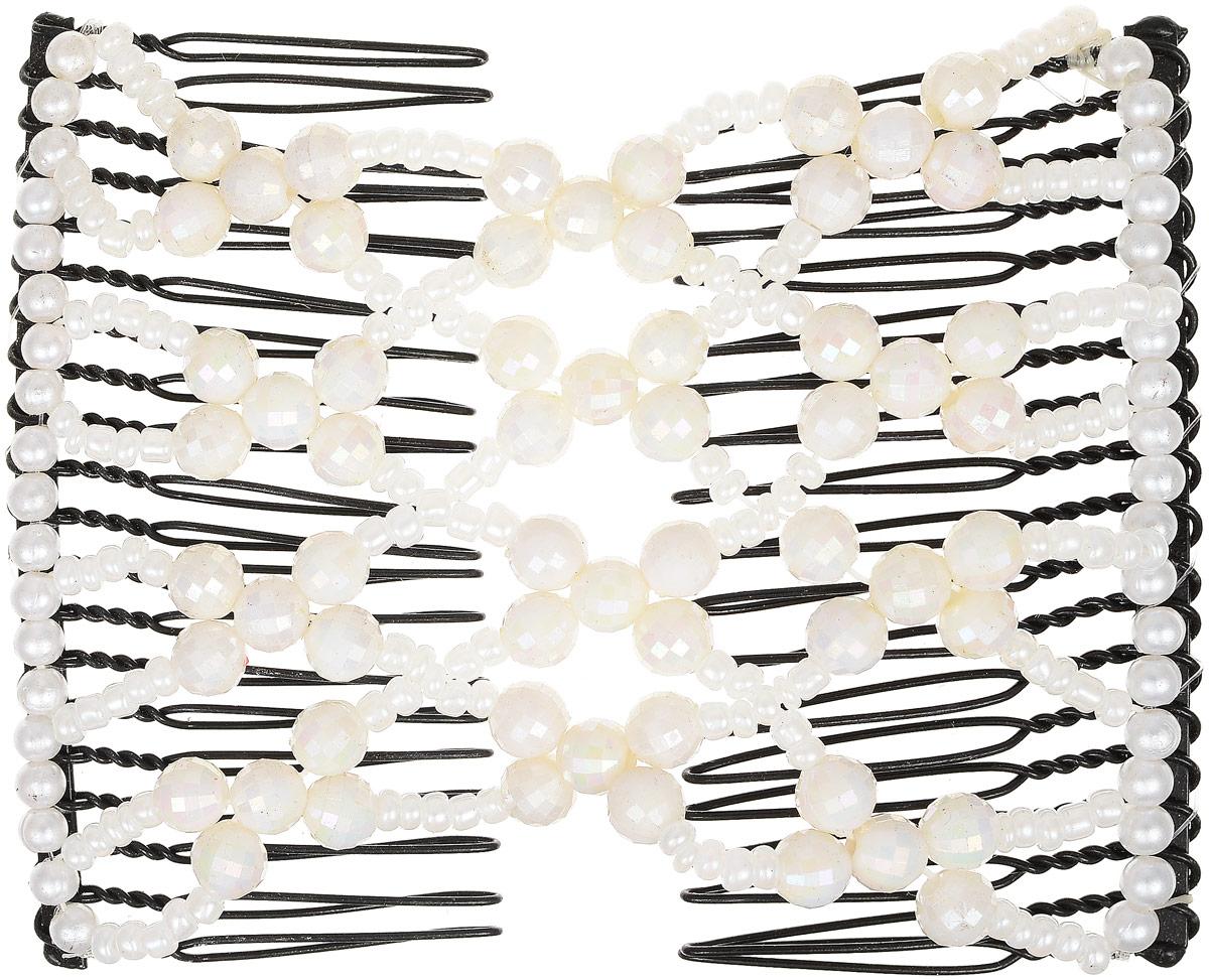 EZ-Combs Заколка Изи-Комбс, одинарная, цвет: белый. ЗИО_перламутрЗИО_белый, перламутрУдобная и практичная EZ-Combs подходит для любого типа волос: тонких, жестких, вьющихся или прямых, и не наносит им никакого вреда. Заколка не мешает движениям головы и не создает дискомфорта, когда вы отдыхаете или управляете автомобилем. Каждый гребень имеет по 20 зубьев для надежной фиксации заколки на волосах! И даже во время бега и интенсивных тренировок в спортзале EZ-Combs не падает; она прочно фиксирует прическу, сохраняя укладку в первозданном виде. Небольшая и легкая заколка для волос EZ-Combs поместится в любой дамской сумочке, позволяя быстро и без особых усилий создавать неповторимые прически там, где вам это удобно. Гребень прекрасно сочетается с любой одеждой: будь это классический или спортивный стиль, завершая гармоничный облик современной леди. И неважно, какой образ жизни вы ведете, если у вас есть EZ-Combs, вы всегда будете выглядеть потрясающе.