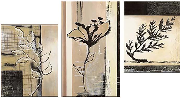 Картина Арт78 Растения, модульная, 100 см х 60 см. арт780024-3арт780024-3Ничто так не облагораживает интерьер, как хорошая картина. Особенную атмосферу создаст крупное художественное полотно, размеры которого более метра. Подобные произведения искусства, выполненные в традиционной технике (холст, масляные краски), чрезвычайно капризны: требуют сложного ухода, регулярной реставрации, особого микроклимата – поэтому они просто не могут существовать в условиях обычной городской квартиры или загородного коттеджа, и требуют больших затрат. Данное полотно идеально приспособлено для создания изысканной обстановки именно у Вас. Это полотно создано с использованием как традиционных натуральных материалов (холст, подрамник - сосна), так и материалов нового поколения – краски, фактурный гель (придающий картине внешний вид масляной живописи, и защищающий ее от внешнего воздействия). Благодаря такой композиции, картина выглядит абсолютно естественно, и отличить ее от традиционной техники может только специалист. Но при этом изображение отлично смотрится с любого...
