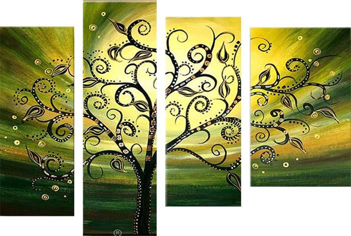 Картина Арт78 Одинокое дерево, модульная, 180 см х 120 см. арт780032арт780032Ничто так не облагораживает интерьер, как хорошая картина. Особенную атмосферу создаст крупное художественное полотно, размеры которого более метра. Подобные произведения искусства, выполненные в традиционной технике (холст, масляные краски), чрезвычайно капризны: требуют сложного ухода, регулярной реставрации, особого микроклимата – поэтому они просто не могут существовать в условиях обычной городской квартиры или загородного коттеджа, и требуют больших затрат. Данное полотно идеально приспособлено для создания изысканной обстановки именно у Вас. Это полотно создано с использованием как традиционных натуральных материалов (холст, подрамник - сосна), так и материалов нового поколения – краски, фактурный гель (придающий картине внешний вид масляной живописи, и защищающий ее от внешнего воздействия). Благодаря такой композиции, картина выглядит абсолютно естественно, и отличить ее от традиционной техники может только специалист. Но при этом изображение отлично смотрится с любого...