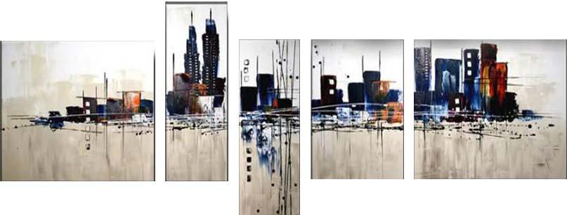 Картина Арт78 Город, модульная, 200 см х 120 см. арт780034арт780034Ничто так не облагораживает интерьер, как хорошая картина. Особенную атмосферу создаст крупное художественное полотно, размеры которого более метра. Подобные произведения искусства, выполненные в традиционной технике (холст, масляные краски), чрезвычайно капризны: требуют сложного ухода, регулярной реставрации, особого микроклимата – поэтому они просто не могут существовать в условиях обычной городской квартиры или загородного коттеджа, и требуют больших затрат. Данное полотно идеально приспособлено для создания изысканной обстановки именно у Вас. Это полотно создано с использованием как традиционных натуральных материалов (холст, подрамник - сосна), так и материалов нового поколения – краски, фактурный гель (придающий картине внешний вид масляной живописи, и защищающий ее от внешнего воздействия). Благодаря такой композиции, картина выглядит абсолютно естественно, и отличить ее от традиционной техники может только специалист. Но при этом изображение отлично смотрится с любого...
