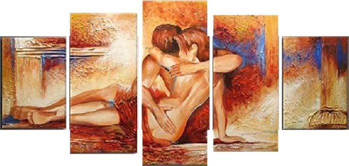 Картина Арт78 Страсть, модульная, 140 см х 80 см. арт780040-2арт780040-2Ничто так не облагораживает интерьер, как хорошая картина. Особенную атмосферу создаст крупное художественное полотно, размеры которого более метра. Подобные произведения искусства, выполненные в традиционной технике (холст, масляные краски), чрезвычайно капризны: требуют сложного ухода, регулярной реставрации, особого микроклимата – поэтому они просто не могут существовать в условиях обычной городской квартиры или загородного коттеджа, и требуют больших затрат. Данное полотно идеально приспособлено для создания изысканной обстановки именно у Вас. Это полотно создано с использованием как традиционных натуральных материалов (холст, подрамник - сосна), так и материалов нового поколения – краски, фактурный гель (придающий картине внешний вид масляной живописи, и защищающий ее от внешнего воздействия). Благодаря такой композиции, картина выглядит абсолютно естественно, и отличить ее от традиционной техники может только специалист. Но при этом изображение отлично смотрится с любого...
