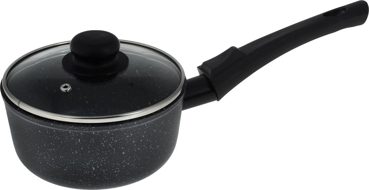Ковш Casta Megapolis с крышкой, с антипригарным покрытием, со съемной ручкой, 1 лСЗ1К/КР/СРКовш Casta Megapolis изготовлен из алюминия с высококачественным антипригарным покрытием, предотвращающим пригорание пищи. Ковш быстро нагревается и дольше сохраняет продукты горячими. Термостойкая бакелитовая ручка обеспечивает комфортное использование. Крышка, выполненная из термостойкого стекла, позволит вам следить за процессом приготовления пищи. Крышка оснащена металлическим ободом и отверстием для выпуска пара. Ковш можно использовать на стеклокерамических, электрических и газовых плитах. Можно мыть в посудомоечной машине. Диаметр (по верхнему краю): 17 см. Высота стенки: 8 см. Длина ручки: 20 см.