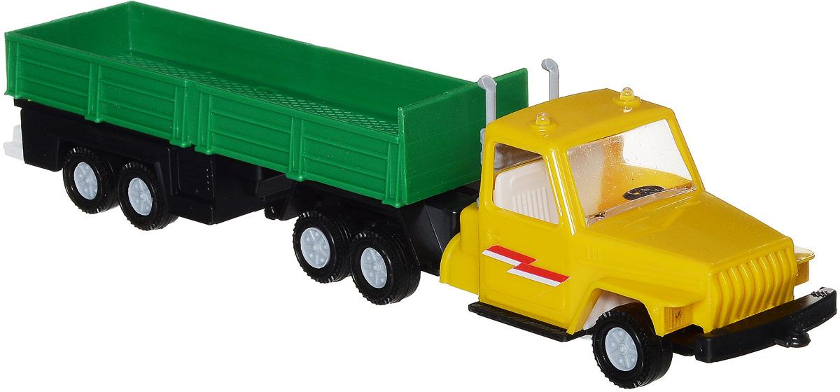 Форма Автоприцеп Урал цвет желтый зеленыйС-12-Ф_желтый, зеленыйАвтоприцеп Урал от компании Форма - это замечательная игрушка для маленьких любителей грузовых машинок. Игрушка представляет собой мощный грузовик Урал, предназначенный для перевозки крупногабаритного груза, такого, как бревна. Колеса машинки и прицепа свободно вращаются, прицеп поворачивается. Машинка подойдет для сюжетно-ролевой игры. Такой машинкой можно играть как дома, так и на улице.