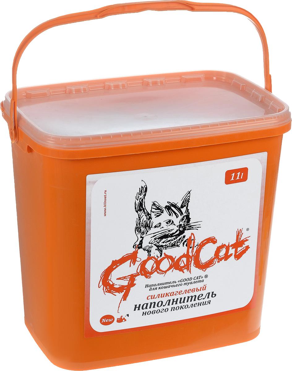 Наполнитель для кошачьего туалета GoodСat, силикагелевый, 11 л1063Силикагелевый наполнитель GoodCat - это уникальный продукт на рынке наполнителей для кошачьих туалетов. Основной его компонент - оксид кремния, поэтому он не растворяется в воде, не обладает собственным запахом и не содержит пыли, способной вызвать аллергию у людей и животных. Сильная адсорбирующая способность силикагелевой основы наполнителя позволяет получить огромный коэффициент влагопоглощения. При этом наполнитель благодаря своей пористой структуре не размокает под действием влаги, а впитывает ее таким образом, что его поверхность остается сухой. Кроме влаги наполнитель способен поглощать практически все бактерии, а также молекулы, создающие неприятный запах. Это свойство наполнителя купировать запахи, бактерицидный эффект, а также способность поверхностного слоя наполнителя оставаться сухим, особенно важны в тех случаях, когда лоток используется несколькими животными. Дополнительное достоинство наполнителя - его можно использовать повторно. Одного ведра наполнителя емкостью 11...