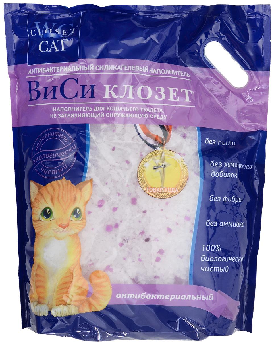 Наполнитель для кошачьего туалета ВиСи Клозет, силикагелевый, антибактериальный, 7,6 л1681Антибактериальный силикагелевый наполнитель для кошачьего туалета ВиСи Клозет изготовлен из 100% натурального биологического вещества. Его химический состав подобен натуральному кварцевому песку, сохраняя его надолго сухим и свежим, а специальные гранулы действуют бактерицидно. Наполнитель ВиСи Клозет не токсичен, не имеет запаха, не вызывает аллергии у людей и животных. Наполнитель экологически безопасен. Товар сертифицирован.