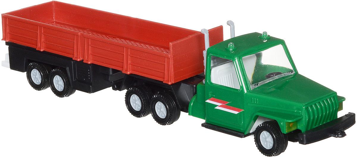 Форма Автоприцеп Урал цвет зеленый красныйС-12-Ф_зеленый, красныйАвтоприцеп Урал от компании Форма - это замечательная игрушка для маленьких любителей грузовых машинок. Игрушка представляет собой мощный грузовик Урал, предназначенный для перевозки крупногабаритного груза, такого, как бревна. Колеса машинки и прицепа свободно вращаются, прицеп поворачивается. Машинка подойдет для сюжетно-ролевой игры. Такой машинкой можно играть как дома, так и на улице.