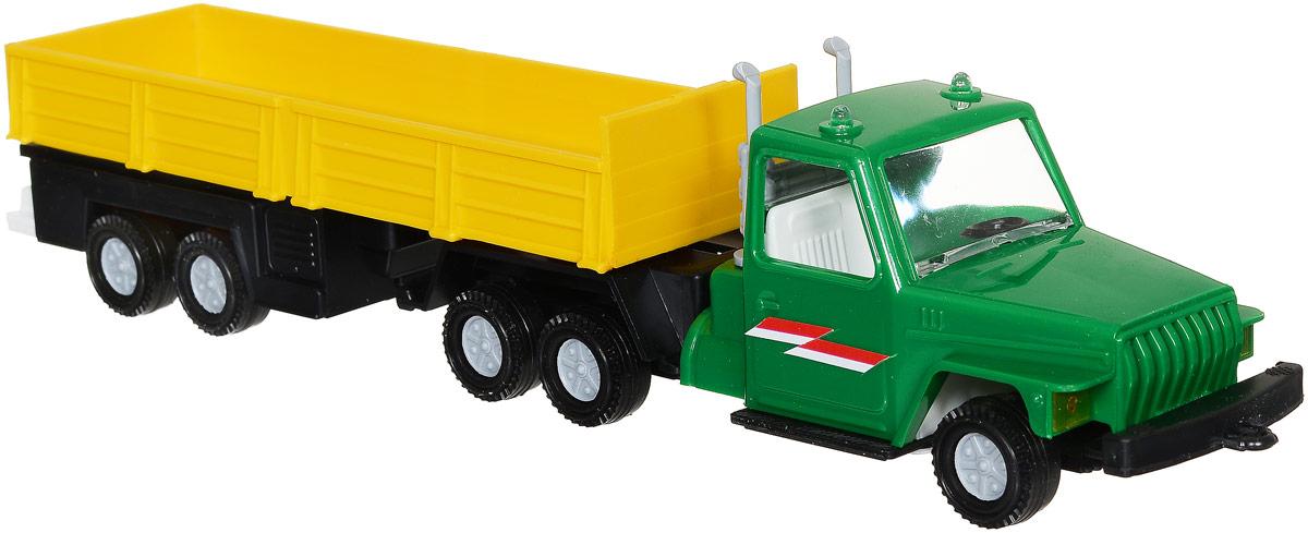 Форма Автоприцеп Урал цвет зеленый желтыйС-12-Ф_зеленый, желтыйАвтоприцеп Урал от компании Форма - это замечательная игрушка для маленьких любителей грузовых машинок. Игрушка представляет собой мощный грузовик Урал, предназначенный для перевозки крупногабаритного груза, такого, как бревна. Колеса машинки и прицепа свободно вращаются, прицеп поворачивается. Машинка подойдет для сюжетно-ролевой игры. Такой машинкой можно играть как дома, так и на улице.