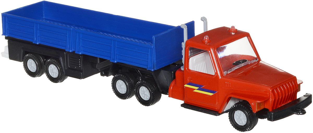 Форма Автоприцеп Урал цвет красный синийС-12-Ф_красный, синийАвтоприцеп Урал от компании Форма - это замечательная игрушка для маленьких любителей грузовых машинок. Игрушка представляет собой мощный грузовик Урал, предназначенный для перевозки крупногабаритного груза, такого, как бревна. Колеса машинки и прицепа свободно вращаются, прицеп поворачивается. Машинка подойдет для сюжетно-ролевой игры. Такой машинкой можно играть как дома, так и на улице.