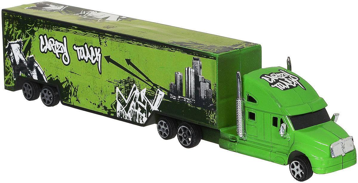 Junfa Toys Грузовик инерционный Road Big цвет зеленый1066_зеленыйИнерционный грузовик Junfa Toys Road Big обязательно привлечет внимание вашего ребенка. Игрушка выполнена из прочного пластика в виде мощного грузовика с прицепом. Машина оснащена инерционным механизмом. Достаточно немного подтолкнуть машинку вперед или назад, а затем отпустить, и она сама поедет в ту же сторону. Малыш проведет с этой игрушкой много увлекательных часов, разыгрывая различные ситуации. Ваш ребенок будет в восторге от такого подарка!