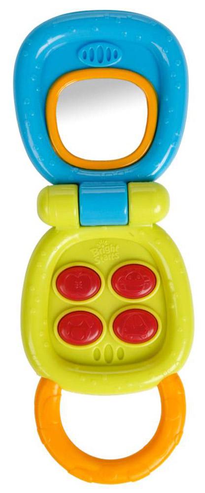 Bright Starts Развивающая игрушка Телефон10225Развивающая игрушка Bright Starts Телефон привлечет внимание вашего ребенка. Игрушка выполнена в виде игрушечного телефончика. Телефон дополнен удобной ручкой и может раскрываться. Внутри имеется безопасное зеркальце и кнопочки. 4 мигающие кнопки при нажатии активируют забавные звуки. Игрушка может воспроизводить 20 разных звуков. Игрушка очень удобна для маленьких ручек малыша. Игрушка развивает мелкую моторику, воображение, концентрацию внимания и цветовое восприятие ребенка. Рекомендуется докупить 2 батарейки типа АG13 (комплектуется демонстрационными).