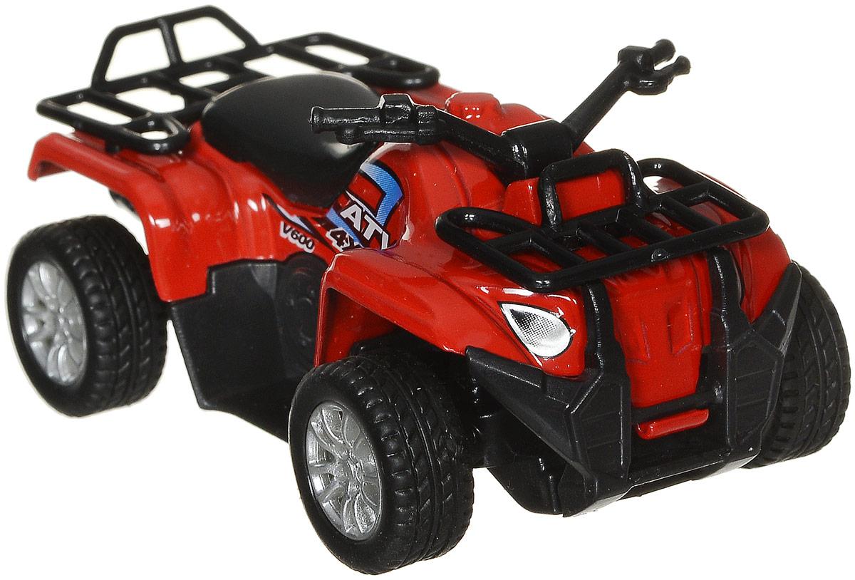 Big Motors Квадроцикл инерционный цвет красный6688-6_красныйИнерционный квадроцикл Big Motors станет любимой игрушкой вашего малыша. Игрушка представляет собой мощный квадроцикл с прорезиненными рельефными колесами. Квадроцикл оснащен инерционным механизмом. Достаточно немного отвести его назад, а затем отпустить, и квадроцикл быстро поедет вперед. Ваш ребенок будет увлеченно играть с этим квадроциклом, придумывая различные истории. Порадуйте его таким замечательным подарком!