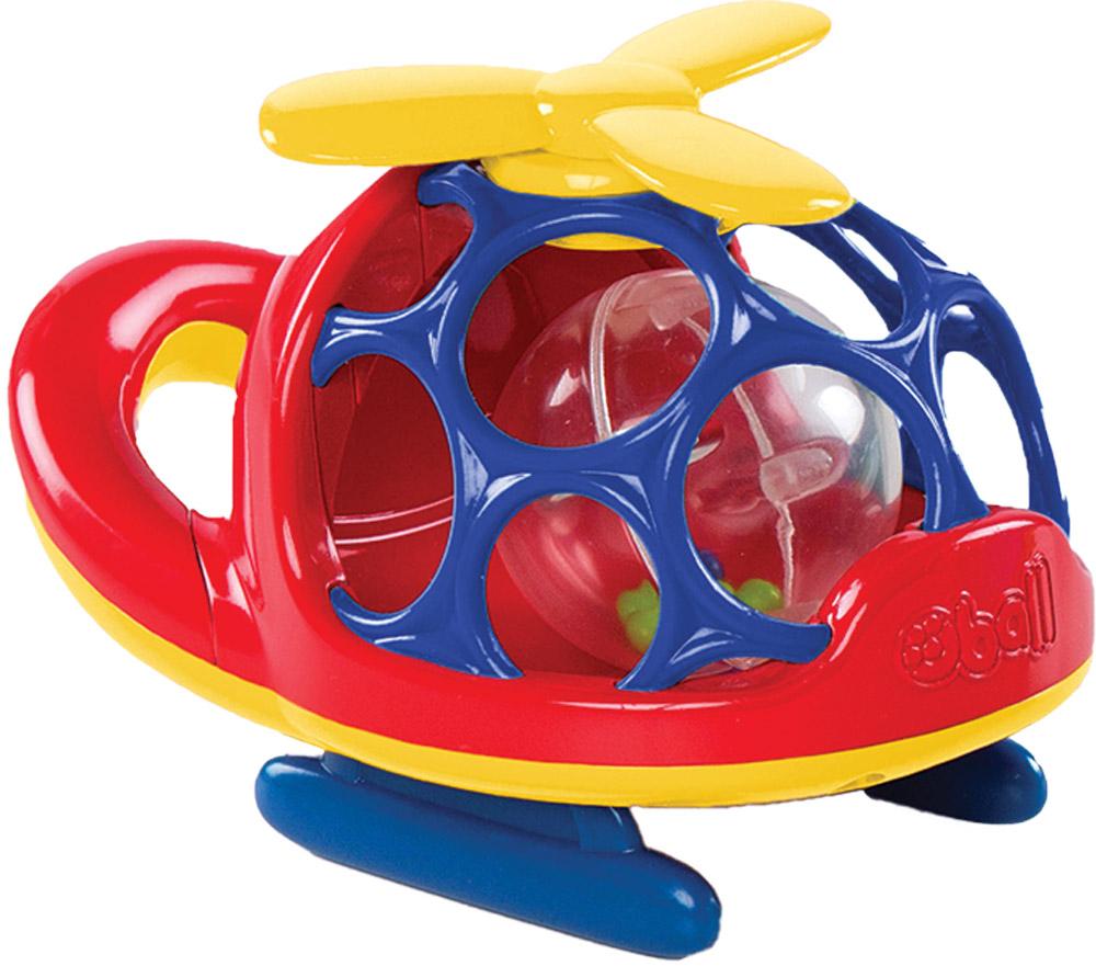 Oball Вертолет цвет красный10556-1Вертолет Oball представлен в виде развивающей игрушки для малышей. Кабина вертолета выполнена в форме шара с большими отверстиями, которые ребенку будет интересно исследовать любопытными пальчиками. Внутри игрушки перекатывается прозрачный пластиковый шарик с гремящими элементами. Пропеллер вертолета можно крутить, при этом издается мелодичный треск. Вертолет дополнен удобной ручкой и безопасным зеркалом. Игрушка выполнена из приятного на ощупь пластика, не имеет острых краев, полностью безопасна для крохи. Игрушка Oball развивает пространственное мышление, цветовое и звуковое восприятие, тактильные ощущения, ловкость и координацию движений.