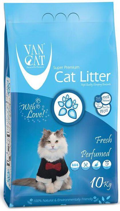"""Наполнитель для кошачьих туалетов """"Van Cat"""", комкующийся, без пыли, с ароматом весенней свежести, 10 кг"""