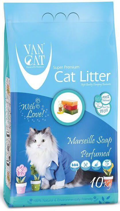 """Наполнитель для кошачьих туалетов """"Van Cat"""", комкующийся, без пыли, с ароматом Алое вера, 10 кг"""