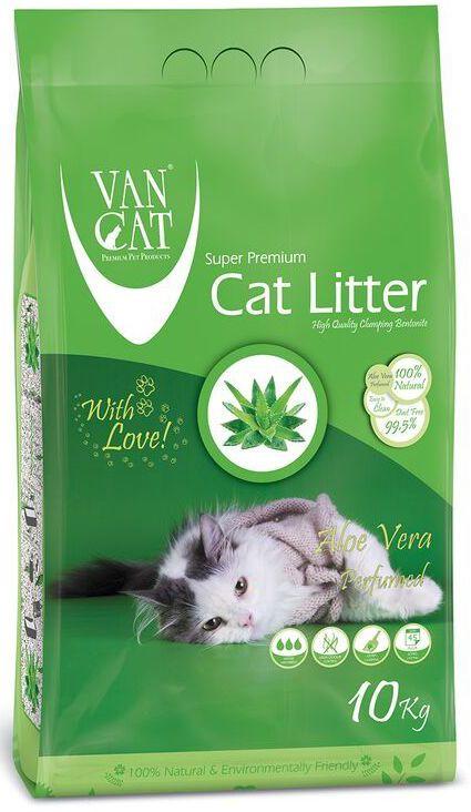 """Наполнитель для кошачьих туалетов """"Van Cat"""", комкующийся, без пыли, с ароматом Алое вера, 5 кг 20659"""