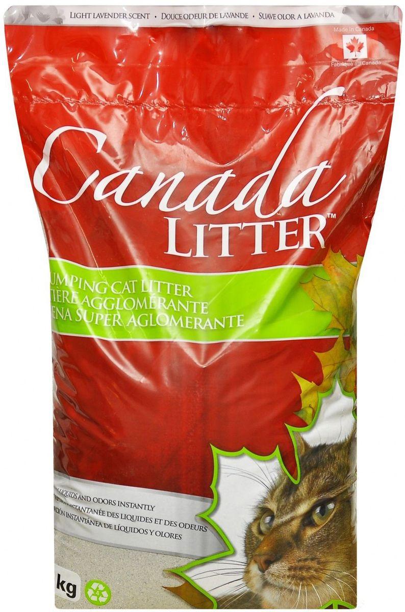 """Наполнитель для кошачьих туалетов Canada Litter """"Запах на Замке"""", комкующийся, с ароматом лаванды, 12 кг 24514"""