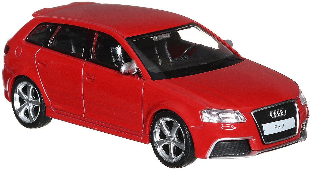 Рыжий Кот Модель автомобиля Audi RS3 Sportback цвет красныйИ-1196_красныйМодель Audi RS3 Sportback - миниатюрная копия настоящего автомобиля. Стильная модель автомобиля привлечет к себе внимание не только детей, но и взрослых. Это немецкое купе, без сомнения, известно всем автолюбителям. Игрушка представлена в масштабе 1:43 и является копией настоящего авто. Повышенную прочность модели обеспечивает металлический корпус. В оформлении использованы пластиковые элементы, колеса обладают свободным ходом. Такая модель станет отличным подарком не только любителю автомобилей, но и человеку, ценящему оригинальность и изысканность, а качество исполнения представит такой подарок в самом лучшем свете.
