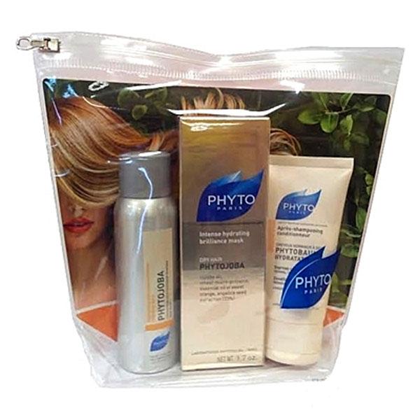 Phytosolba Набор Phytojoba: Шампунь для объема Phytobaume, 50 мл, шампунь увлажняющий Phytojoba, 50 мл, флюид Huile Soyeuse, 30 млCNF013В набор входят: Phytojoba для интенсивного увлажнения сухих волос. Позволяет быстро восстановить необходимый уровень увлажнения, блеск и мягкость волос. Phytobaume экспресс-кондиционер для тонких волос. Тонизирует волосы и придает им блеск. Натуральные экстракты мягко ухаживают, восстанавливая волосы и придавая им эластичности и мягкости. Шелковое молочко Huile Soyeuse. Питает и насыщает волосы, восстанавливая структуру волос. Волосы становятся эластичными, гладкими и сияющими.