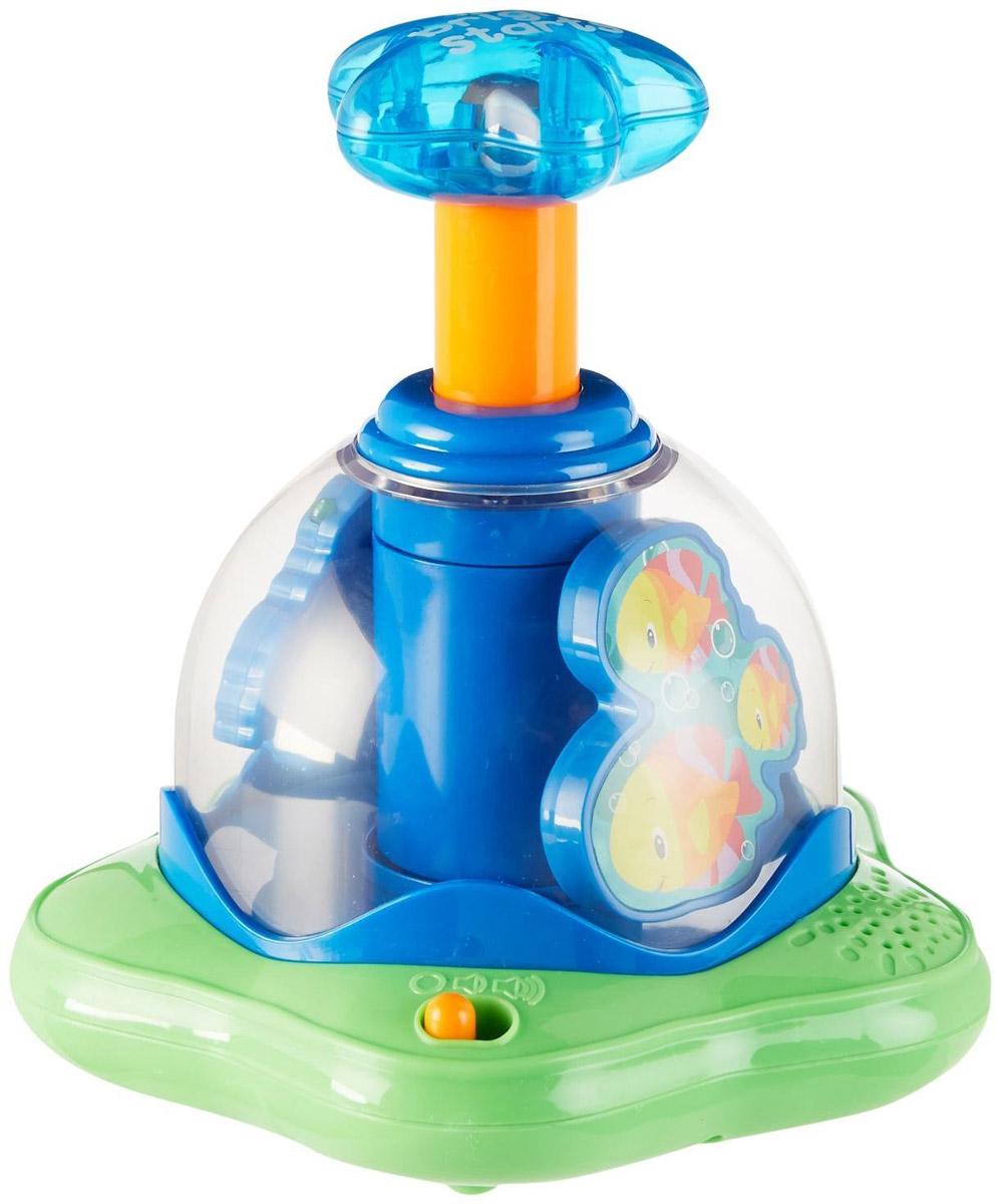 Bright Starts Юла Волшебная вертушка10042Юла Волшебная вертушка от компании Bright Starts - современная версия классического развлечения детей во всем мире. Юла выполнена из безопасного пластика ярких цветов. При нажатии на ручку юла начнет вращаться. При вращении появляются яркие огни и веселые мелодии. У игрушки два режима громкости. Вращение может происходить без звука и без света. Громкость увеличивается и выключается простым переключением рычажка на основании вертушки. Юла воспроизводит более 20 мелодий и звуков. Занятия с Волшебной вертушкой помогут ребенку понять причинно-следственные связи, развить мелкую моторику рук, логическое мышление и воображение. Рекомендуется докупить 3 батарейки типа АА (комплектуется демонстрационными).