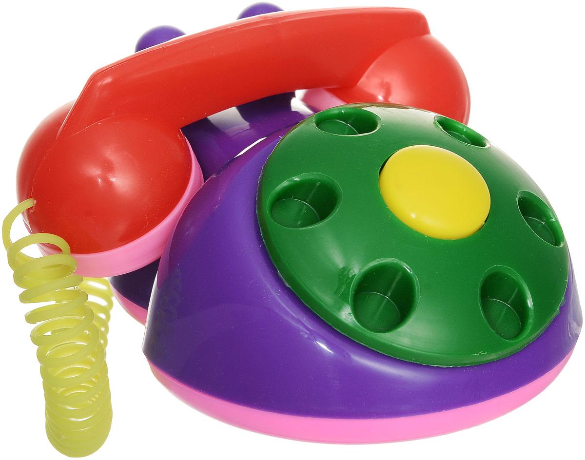 Аэлита Детский телефон цвет фиолетовый зеленый