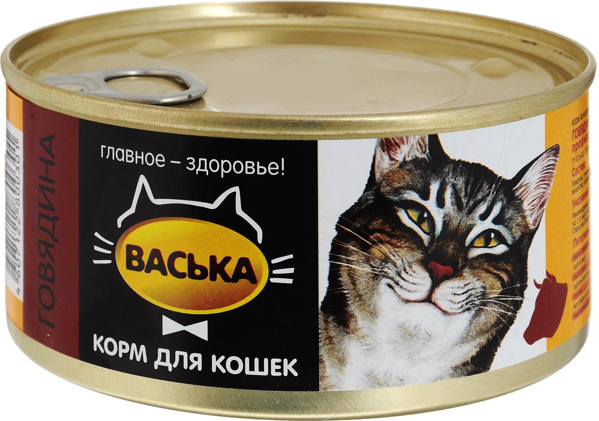 """Консервы для кошек """"Васька"""", для профилактики моче-каменных болезней, говядина, 325 г 0301"""