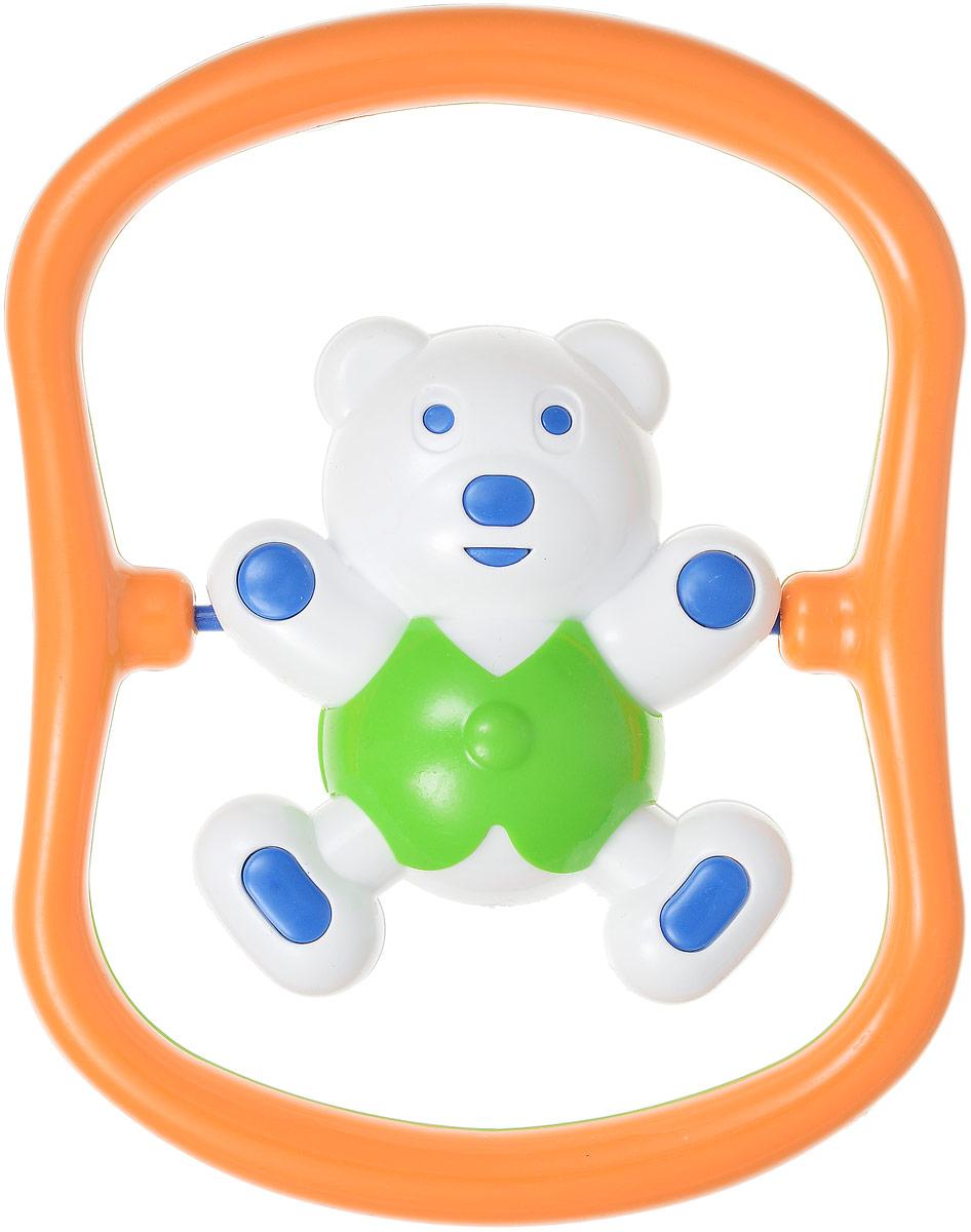 Аэлита Погремушка Мишка-баюн цвет зеленый оранжевый2С420_зеленыйЗабавная погремушка Аэлита Мишка-баюн поможет малышу научиться фокусировать внимание. Игрушка развивает мелкую моторику и слуховое восприятие. Выполнена в ярком дизайне из безопасных материалов в виде забавного медвежонка в рамке. Фигурка поворачивается вокруг своей оси и гремит. Удобная форма игрушки позволит малышу с легкостью взять и держать ее, а приятный звук погремушки порадует и заинтересует его. Игрушка поможет развить цветовое восприятие, тактильные ощущения и мелкую моторику рук ребенка, а элемент погремушки поспособствует развитию слуха.