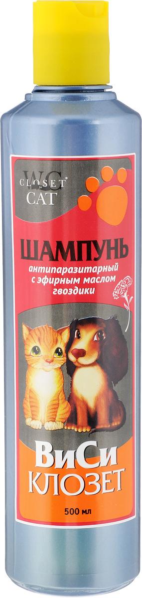 Шампунь для кошек и собак ВиСи Клозет, антипаразитарный, с эфирным маслом гвоздики, 500 мл туалет для кошек виси клозет с совком цвет желтый голубой 50 х 37 х 17 см