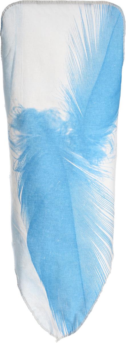 Чехол для гладильной доски Brabantia Голубое перо, 135 х 49 см124440_голубое пероЧехол для гладильной доски Brabantia Голубое перо, выполненный из хлопка, подарит вашей доске новую жизнь и создаст идеальную поверхность для глажения и отпаривания белья. Чехол разработан специально для гладильных досок Brabantia и подходит для большинства утюгов и паровых систем. Изделие оснащено подкладкой из поролона (2 мм). Благодаря системе фиксации (эластичный шнурок с ключом для натяжения и резинка с крючками по центру) чехол легко крепится к гладильной доске, а поверхность всегда остается гладкой и натянутой. С помощью цветной маркировки на чехле к гладильной доске вы легко подберете чехол подходящего размера. Размер рабочей поверхности чехла: 135 х 49 см..