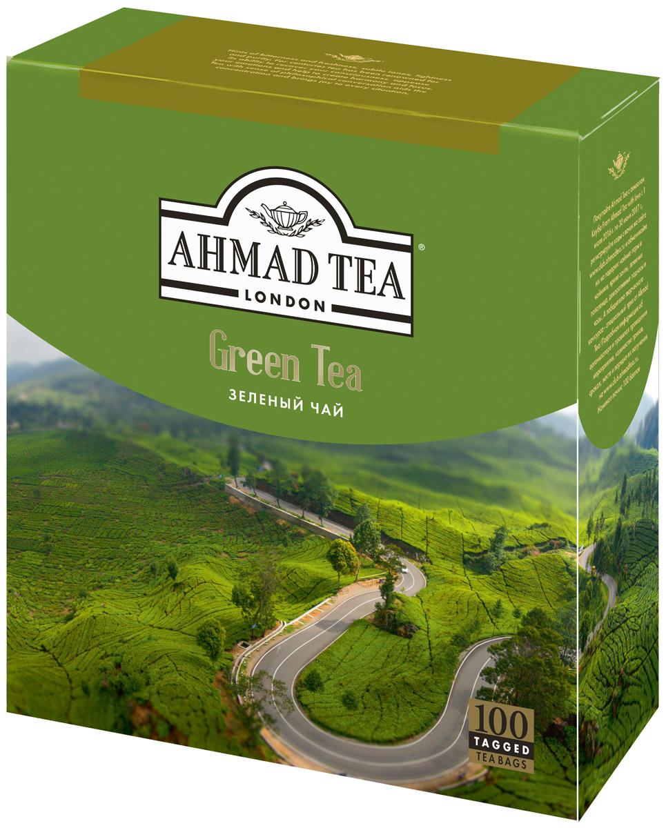 Ahmad Tea зеленый чай в пакетиках, 100 шт478Зеленый чай Ahmad - это едва заметная горчинка, свежесть, прозрачность оттенков, воздушность, легкость и чистота. Чай, способный, как и тысячу лет назад, прояснить сознание, успокоить поток эмоций, подарить сосредоточенность и гармонию. Чай со вкусом философской беседы, помогающий концентрации мысли и создающий дружественную атмосферу. Заваривать 3-5 минут, температура воды 90°С. Уважаемые клиенты! Обращаем ваше внимание на то, что упаковка может иметь несколько видов дизайна. Поставка осуществляется в зависимости от наличия на складе.