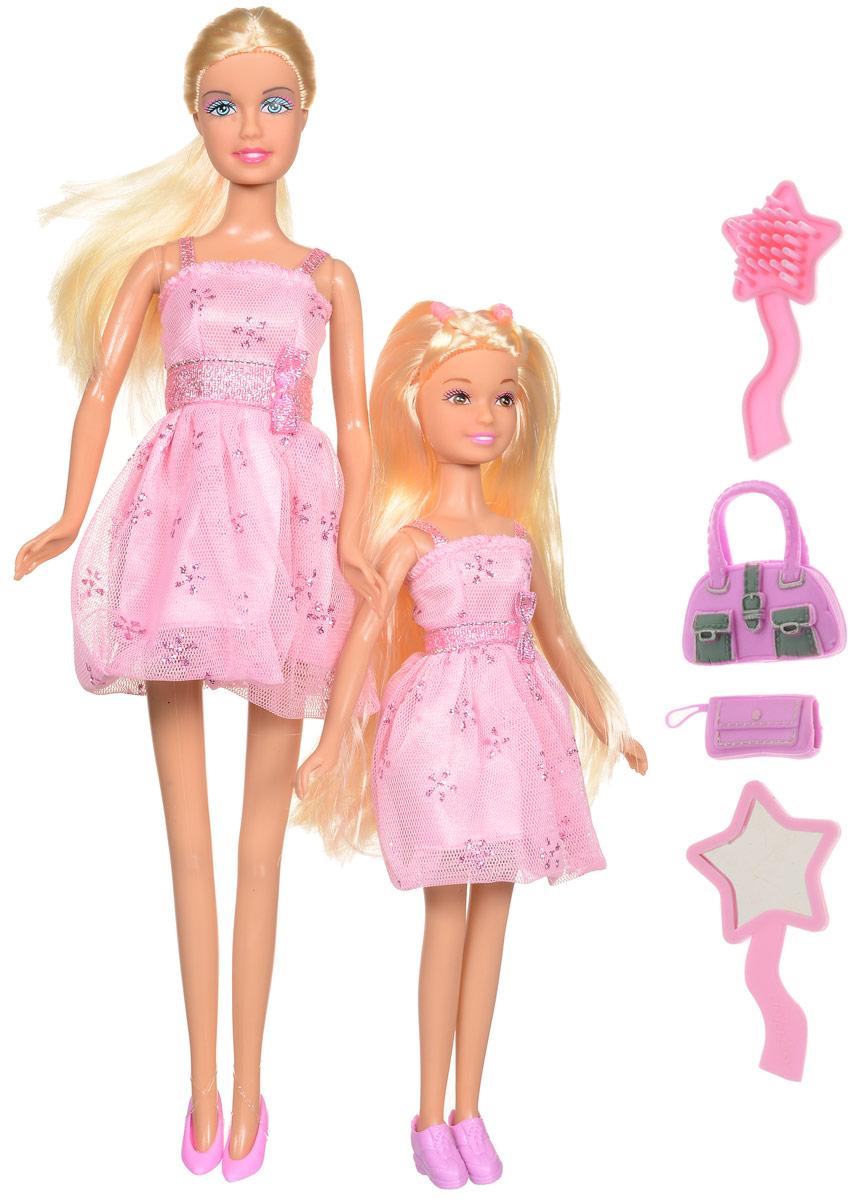 Defa Игровой набор с куклами Lucy Sisters цвет розовый8126d_розовыйКуклы-сестрички Lucy. Sisters от компании Defa непременно понравятся вашей малышке и станут ее любимыми игрушками. Куклы Defa известны на весь мир своими забавными щечками и смешными улыбками. Куклы одеты в короткие розовые платья с блестками и в розовые туфельки. У кукол длинные светлые волосы, вашей дочурке непременно понравится заплетать их, придумывая разнообразные прически и новые образы. Голова, руки и ноги кукол подвижны. В комплекте с куклами имеются модные розовые сумочки и расческа с зеркальцем. Куклы, пожалуй, самые популярные игрушки в мире. Девочки обожают играть с ними, отправляясь в сказочную страну грез. Соберите всю коллекцию забавных модниц от компании Defa. Порадуйте свою малышку таким великолепным подарком!
