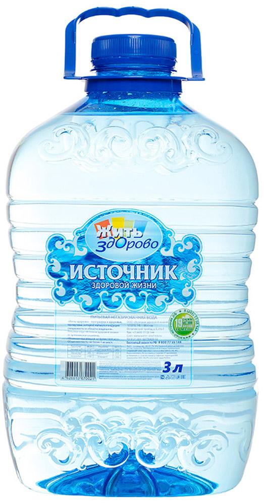 Источник здоровой жизни питьевая вода негазированная, 3 л