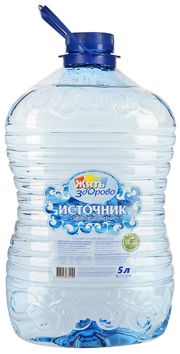 Источник здоровой жизни питьевая вода негазированная, 5 л