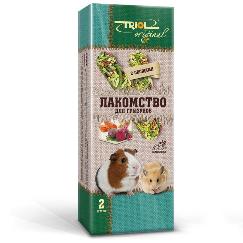 Лакомство для грызунов Triol Original, с овощами, 2 штTF-20200Корма и лакомства Triol Original содержат только натуральные ингредиенты и изготовлены из отборного зерна. Оригинальная рецептура учитывает пещевые потребности вашего пернатого питомца. Сбалансированный и разнообразный состав не только удовлетворяет вкусовым предпочтениям, но и укрепляет здоровье.