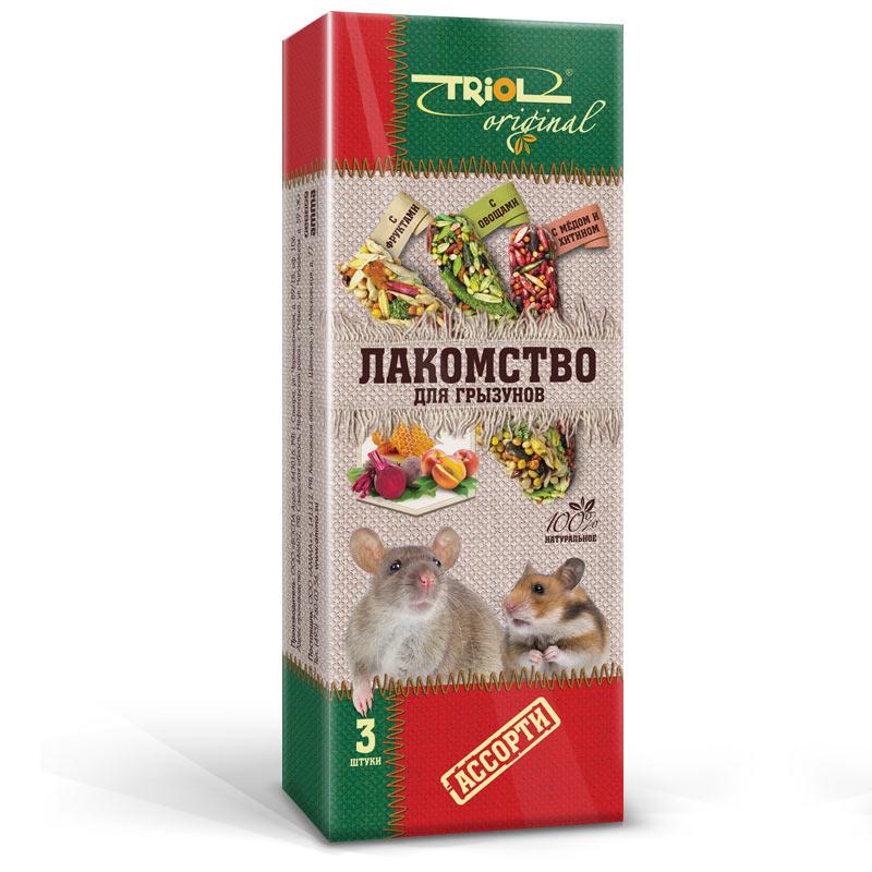 Лакомство для грызунов Triol Original, ассорти, 3 штTF-20300Корма и лакомства Triol Original содержат только натуральные ингредиенты и изготовлены из отборного зерна. Оригинальная рецептура учитывает пещевые потребности вашего пернатого питомца. Сбалансированный и разнообразный состав не только удовлетворяет вкусовым предпочтениям, но и укрепляет здоровье.