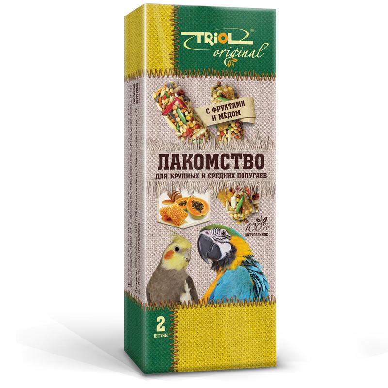 """Лакомство для попугаев Triol """"Original"""", с фруктами и медом, 2 шт TF-20700"""