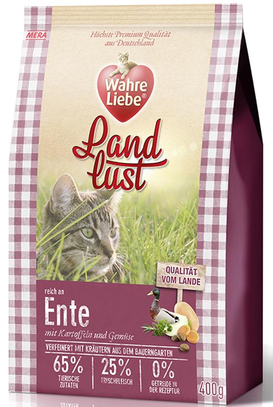Корм сухой Wahre Liebe Landlust Ente, для кошек, с уткой, 1,5 кг30303Полнорационный беззерновой корм для кошек с уткой