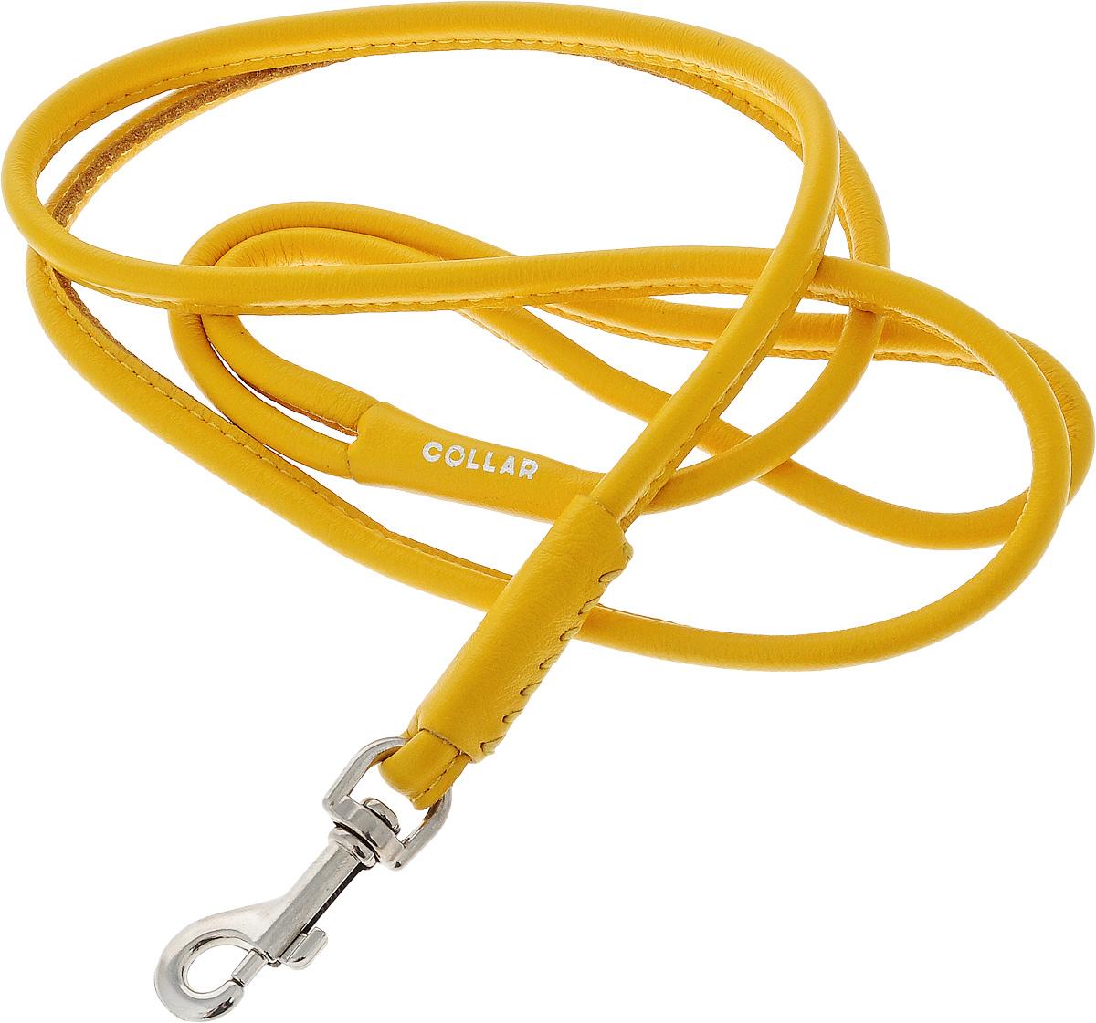Поводок для собак CoLLaR Glamour, цвет: желтый, диаметр 6 мм, длина 1,22 м33808Поводок для собак CoLLaR Glamour изготовлен из натуральной кожи и снабжен металлическим карабином. Поводок отличается не только исключительной надежностью и удобством, но и оригинальным дизайном. Он идеально подойдет для активных собак, для прогулок на природе и охоты. Поводок - необходимый аксессуар для собаки. Ведь в опасных ситуациях именно он способен спасти жизнь вашему любимому питомцу. Диаметр поводка: 6 мм. Длина поводка: 1,22 м.