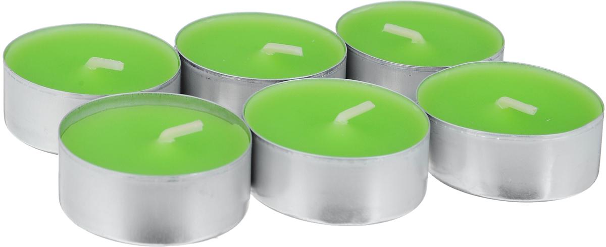 Свеча ароматическая чайная Bolsius Яблоко, 6 шт103626941585Свеча ароматическая Bolsius Яблоко создаст в доме атмосферу тепла и уюта. Чайная свеча в металлической подставке приятно смотрится в интерьере, она безопасна и удобна в использовании. Свеча создаст приятное мерцание, а сладкий манящий аромат окутает вас и подарит приятные ощущения. Время горения: 4 ч.