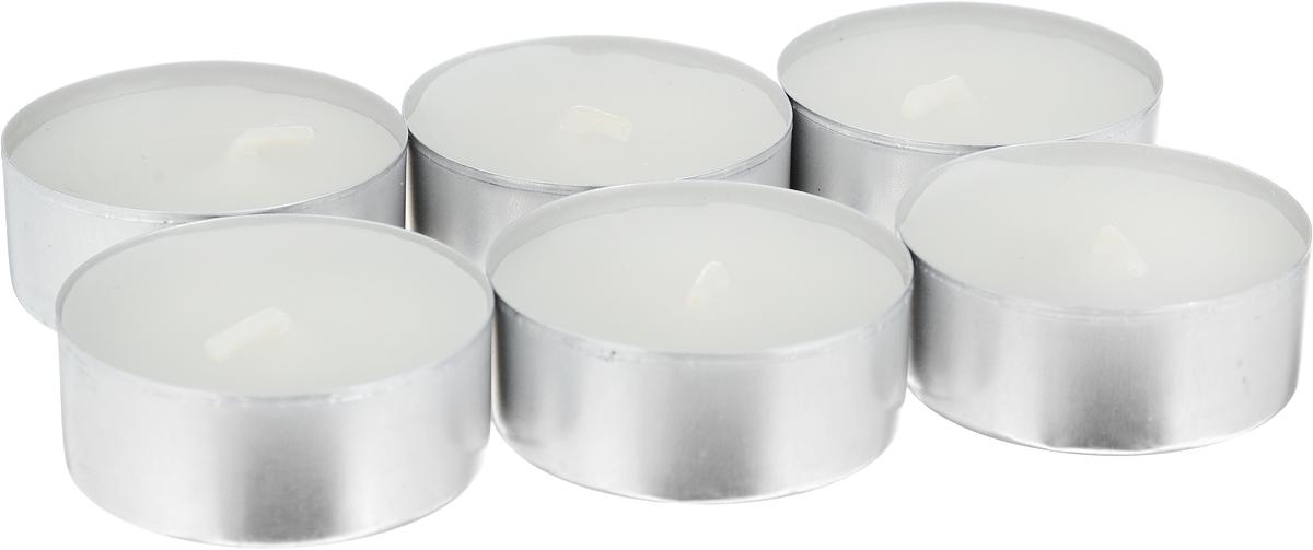 Свеча ароматическая чайная Bolsius Ландыш, 6 шт103626941503Свеча ароматическая Bolsius Ландыш создаст в доме атмосферу тепла и уюта. Чайная свеча в металлической подставке приятно смотрится в интерьере, она безопасна и удобна в использовании. Свеча создаст приятное мерцание, а сладкий манящий аромат окутает вас и подарит приятные ощущения. Время горения: 4 ч.