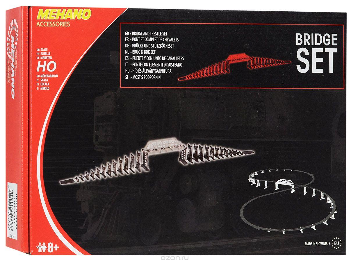 Mehano Мост c опорами для железной дорогиF292Мост с опорами для железнодорожного полотна Mehano позволит вам проявить фантазию и создать настоящую железнодорожную эстакаду. Мост и опоры выполнены из высококачественного прочного пластика в масштабе 1:87, они подходят для железной дороги с шириной колеи 16,5 мм. Такой мост будет совместим со всеми поездами и вагонами Mehano в масштабе 1:87, а также с другими элементами железнодорожных треков компании Mehano. Дополнительные элементы для железнодорожного трека Mehano станет незаменимым аксессуаром для вашей миниатюрной железной дороги. Играя с этим набором, юный машинист сможет строить новые станции и придумывать неповторимый, свой собственный уникальный ландшафт. Уважаемые клиенты! Обращаем ваше внимание, что рельсы в комплект не входят.