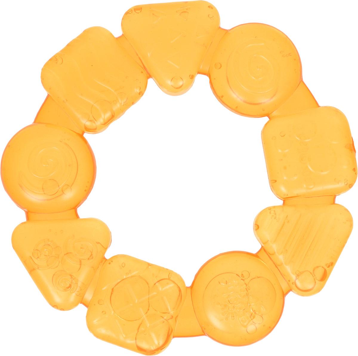 Bright Starts Прорезыватель Карамельный круг цвет желтый10204-1Прорезыватель Карамельный круг рекомендуется для детей, у которых начинают прорезываться зубы. Он изготовлен из мягкого и в тоже время прочного пластика, наполненного чистой водой. Прорезыватель имеет форму круга, состоящего из конфеток разной формы. Мягкий и круглый прорезыватель удобно держать маленькими ручками. Прорезыватель рекомендуется хранить в холодильнике (только не в морозильной камере). В охлажденном состоянии прорезыватель оказывает легкое анестезирующее действие, мягко массирует десны малыша и уменьшает дискомфорт при появлении зубов. Прорезыватель развивает мелкую моторику, воображение, концентрацию внимания и цветовое восприятие ребенка.
