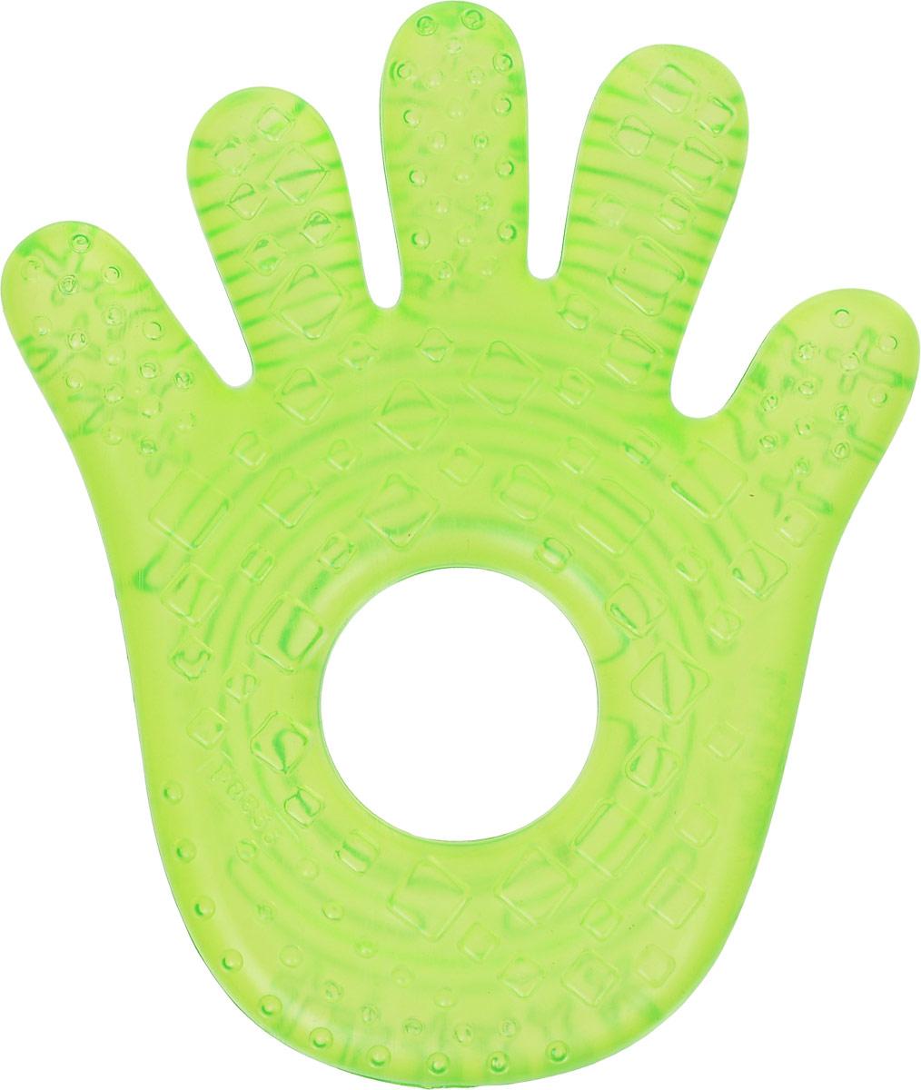 Bright Starts Прорезыватель Ладошка10112-1Прорезыватель Ладошка рекомендуется для детей, у которых начинают прорезываться зубы. Он изготовлен из мягкого и в тоже время прочного пластика, наполненного чистой водой. Прорезыватель имеет форму маленькой ладошки с ребристой поверхностью. Мягкий прорезыватель с круглым отверстием удобно держать маленькими ручками. Прорезыватель рекомендуется хранить в холодильнике (только не в морозильной камере). В охлажденном состоянии прорезыватель оказывает легкое анестезирующее действие, мягко массирует десны малыша и уменьшает дискомфорт при появлении зубов. Прорезыватель развивает мелкую моторику, воображение, концентрацию внимания и цветовое восприятие ребенка.