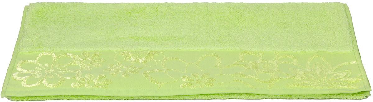 Полотенце Hobby Home Collection Dora, цвет: зеленый, 50 х 90 см1501000437Полотенце Hobby Home Collection Dora выполнено из 100% хлопка. Изделие отлично впитывает влагу, быстро сохнет, сохраняет яркость цвета и не теряет форму даже после многократных стирок. Такое полотенце очень практично и неприхотливо в уходе. А простой, но стильный дизайн полотенца позволит ему вписаться даже в классический интерьер ванной комнаты.