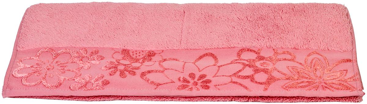 Полотенце Hobby Home Collection Dora, цвет: розовый, 70 х 140 см1501000451Полотенце Hobby Home Collection Dora выполнено из 100% хлопка. Изделие отлично впитывает влагу, быстро сохнет, сохраняет яркость цвета и не теряет форму даже после многократных стирок. Такое полотенце очень практично и неприхотливо в уходе. А простой, но стильный дизайн полотенца позволит ему вписаться даже в классический интерьер ванной комнаты.