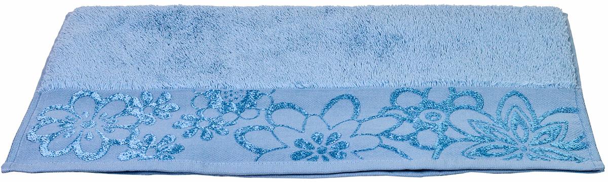 Полотенце Hobby Home Collection Dora, цвет: светло-голубой, 70 х 140 см1501000452Полотенце Hobby Home Collection Dora выполнено из 100% хлопка. Изделие отлично впитывает влагу, быстро сохнет, сохраняет яркость цвета и не теряет форму даже после многократных стирок. Такое полотенце очень практично и неприхотливо в уходе. А простой, но стильный дизайн полотенца позволит ему вписаться даже в классический интерьер ванной комнаты.